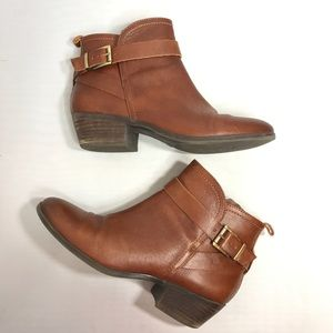 Vince Camuto Brown Peamer Leather Booties